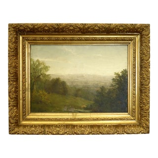 Antique 19th Century Landscape Oil Painting by Richard William Hubbard