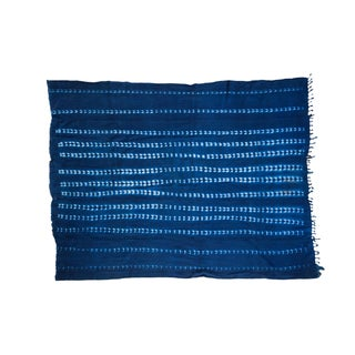 Vintage Hand Woven Batik Blue Throw