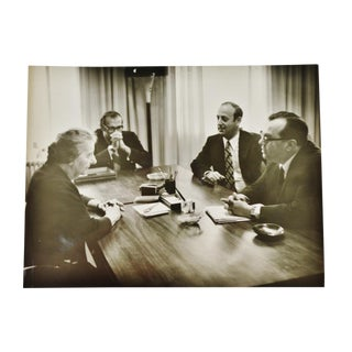 1968 Vintage Original Photo of Former Israeli Prime Minster Golda Meir