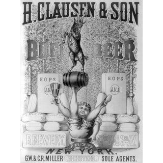 'H. Clausen & Son' Beer Advertisement Print