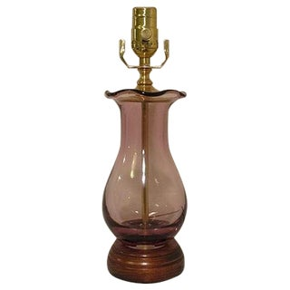 Fluted Urn Glass Table Lamp