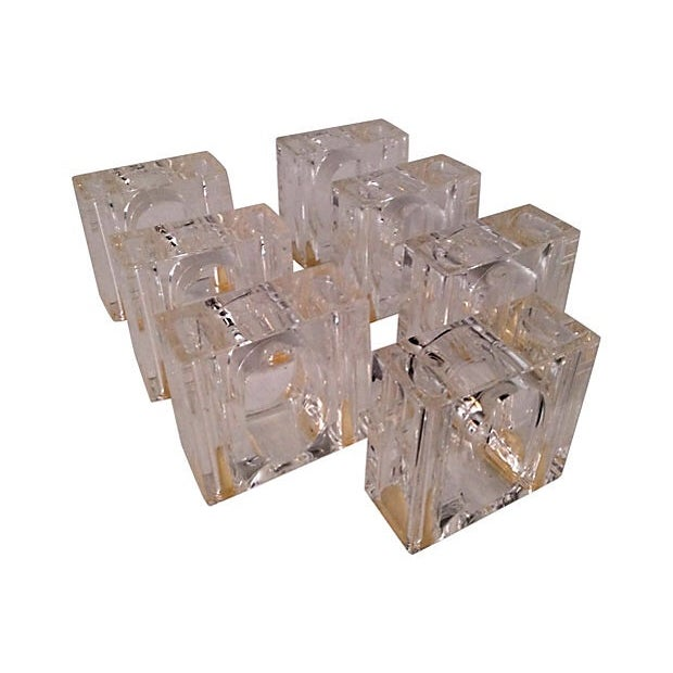 Lucite Napkin Rings, Set of 7 - Image 2 of 4