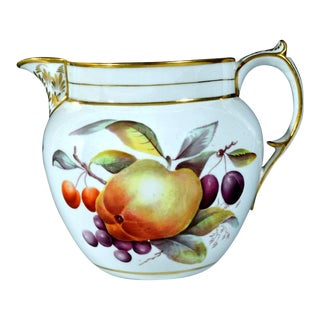 Davenport Porcelain Jug Decorated With Fruit