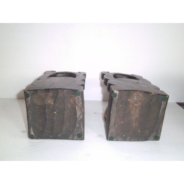Hand Carved Wooden Bookends - Image 7 of 11