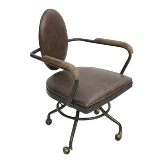 Industrial Office Chair with Antique Metal Finish