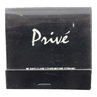 Club Prive Black Matchbook
