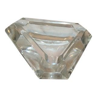 Art Deco Style Crystal Triangle Ashtray