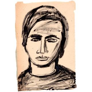 Mid Century Male Portrait by Jean Spielberg Margolin