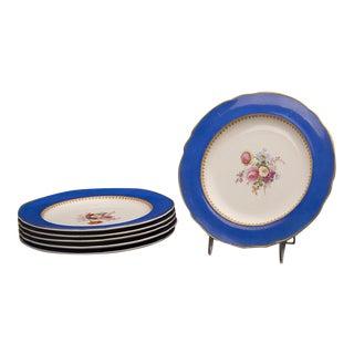 Set of Six Sèvres Style Copeland Dessert / Salad Plates, England c. 1875