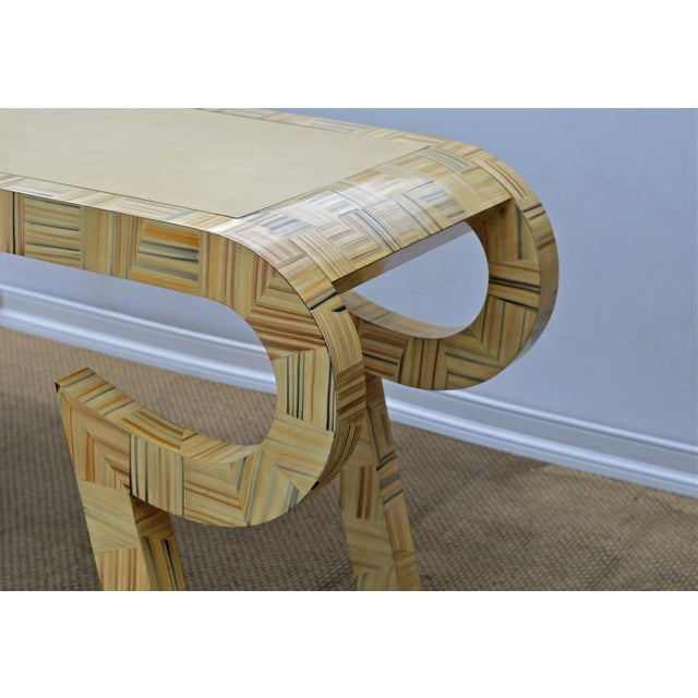 Alessandro Painted & Lacquered Console / Desk for Baker Furniture - Image 7 of 11