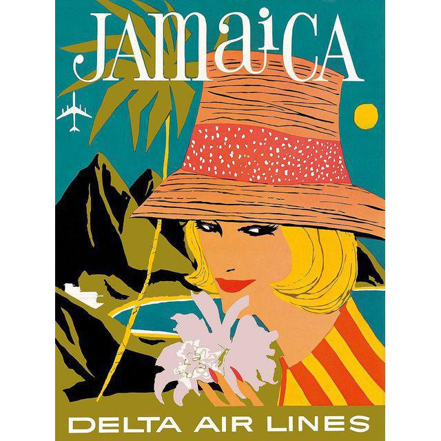 Vintage Reproduction Jamaica Travel Poster - Image 2 of 3