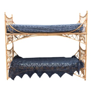 Vintage Bamboo Bunk Beds