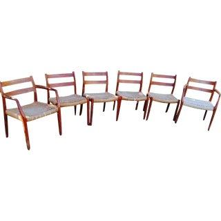 J.L. Moller Model 84 Danish Dining Chairs - S/6