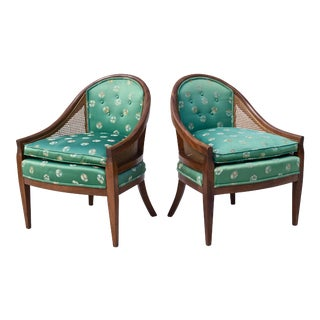 Gondola Style Cane Back Chairs - Pair