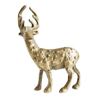 Vintage Mid Century Hollywood Regency Brass Deer Figurine