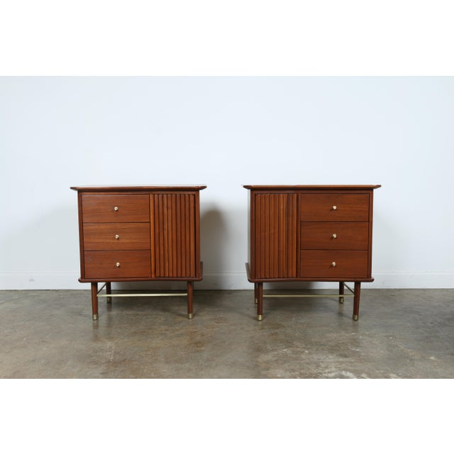 Refinished Walnut Side Tables Nightstands - A Pair - Image 5 of 11