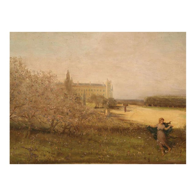 """Amazing 9'8"""" Original Antique French Panoramic Oil Painting on Linen - Image 1 of 10"""