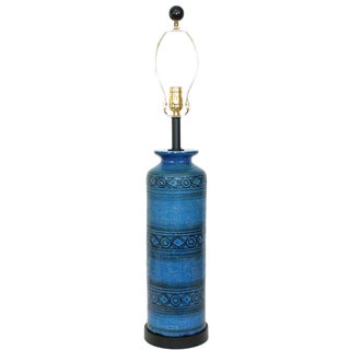 Bitossi for Raymor Blue Pottery Lamp
