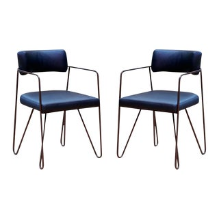 Wire Dining Chairs - Pair