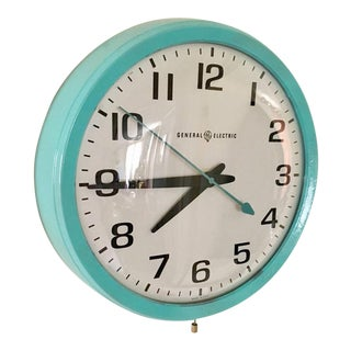 General Electric Vintage School Clock