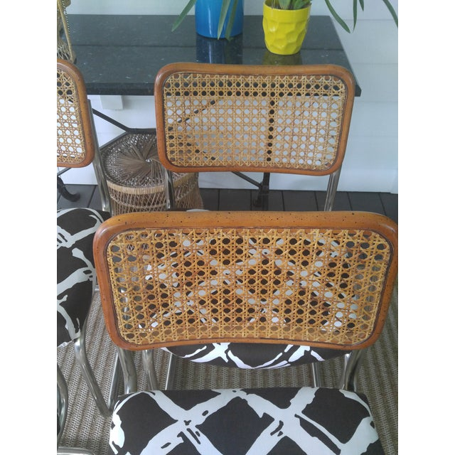 Woven Cesca Style Chairs - Set of 4 - Image 4 of 7