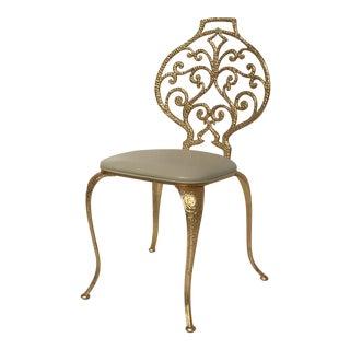 Gold Leaf Vanity Chair