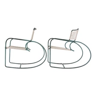 Pair of Walter Lamb Patio Rocking Chairs for Brown Jordan