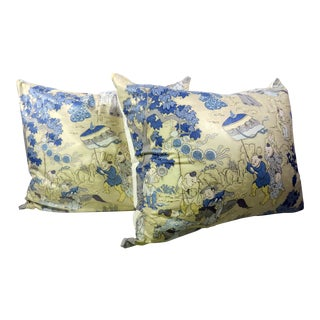 Chinoiserie Pillows - A Pair