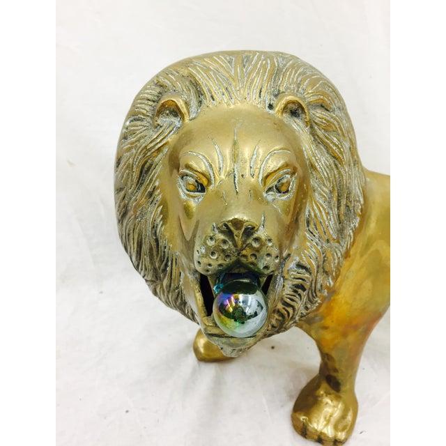 Vintage Brass Lion Sculpture - Image 2 of 10