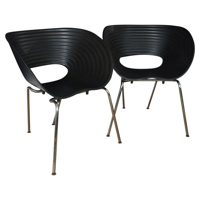 Iconic Black Tom Vac Chairs - Pair - Image 1 of 6