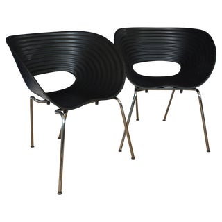 Iconic Black Tom Vac Chairs - Pair