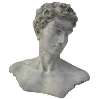 Neoclassical Vintage Cast Resin Bust