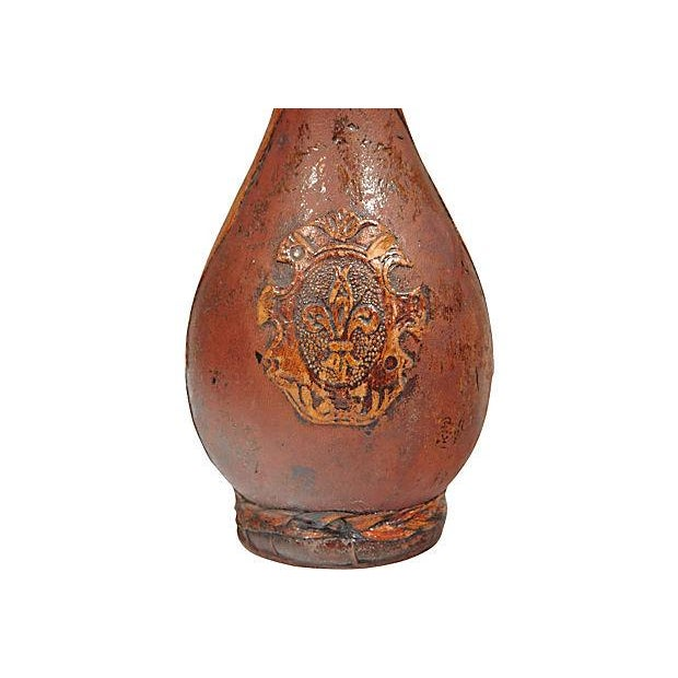 Image of Tall Leather-Wrapped Decanter