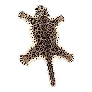Leopard Shaped Wool Rug - 3' x 5'