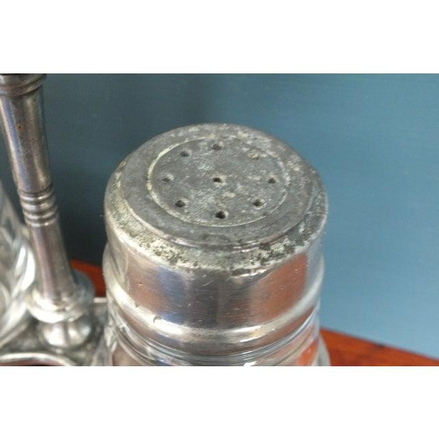 Arte Italica Tavola Pewter Salt & Pepper W/Caddy - Image 8 of 8