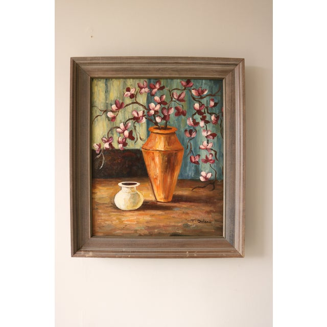 Vintage Framed Still Life Painting - Image 2 of 5