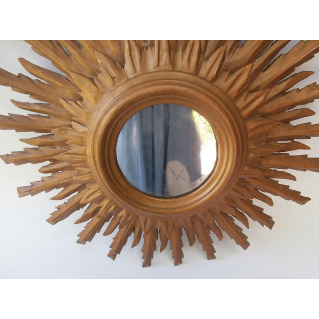 French Sunburst Double Layered Gilded Mirror, Circa 1950 - Image 3 of 5