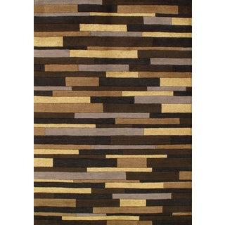 Pasargad Hand-Tufted Modern Brown Rug - 5′ × 8′