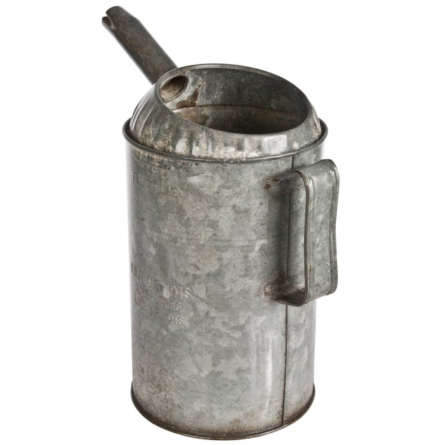 Vintage Galvanized Oil Pitcher - Image 2 of 3