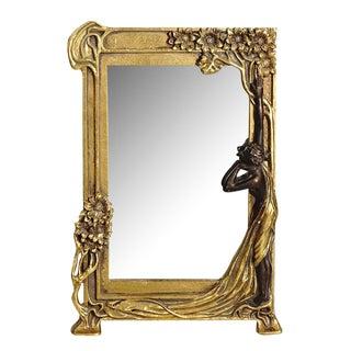 Art Nouveau Gold Vanity Mirror