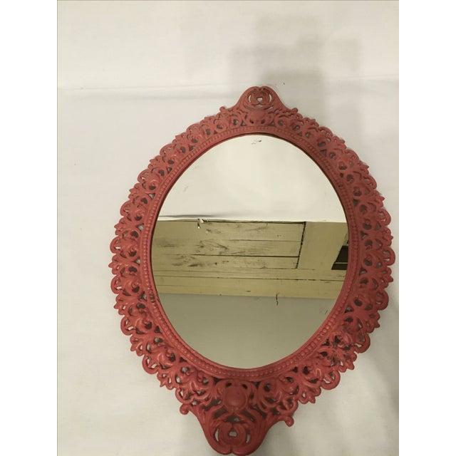 Emig Cast Iron Oval Mirror - Image 4 of 7