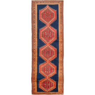 "4'3"" x 12'7"" Meshkin Vintage Persian Rug"