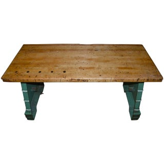 Industrial Maple Top Work Table