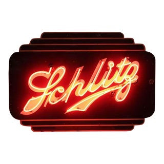 "Art Deco Double Sided Neon "" Schlitz "" Beer Sign"