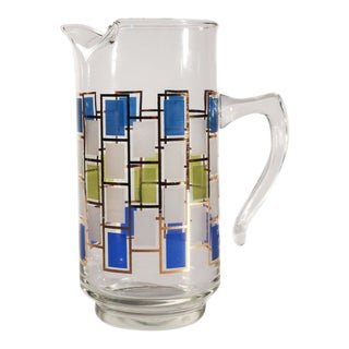 Mid-Century Modern Glass Pitcher