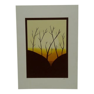 "1977 ""Sunset"" Signed Print"