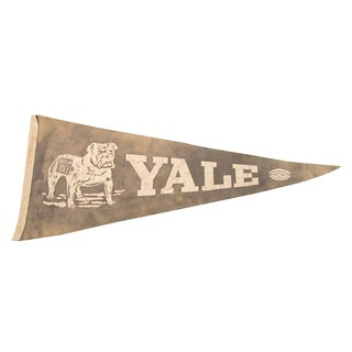 Yale Beat 'Em Yale With Football Felt Flag