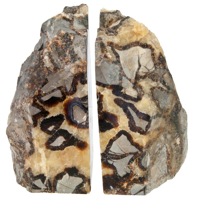 Pair Of Polished Septarian Stone Bookends - Image 3 of 4