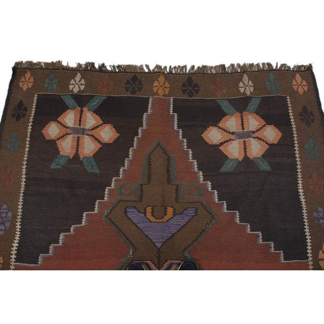 "Hand-Woven Turkish Kilim Rug - 6'7"" X 11'3"" - Image 5 of 10"