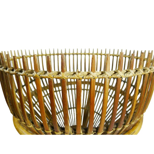 Vintage Bamboo Copper Tray Table - Image 6 of 6